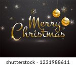 glossy text merry christmas... | Shutterstock .eps vector #1231988611