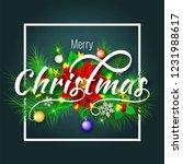 stylish lettering of christmas... | Shutterstock .eps vector #1231988617