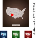 map of new mexico | Shutterstock .eps vector #1231998964