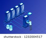 data center concept with...   Shutterstock .eps vector #1232004517