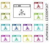 web browser icon in multi color....