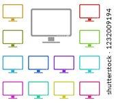 computer monitor icon in multi...
