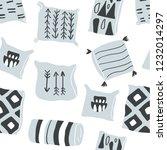 cute vector seamless pattern...   Shutterstock .eps vector #1232014297