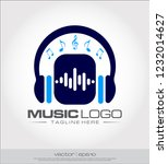 music headphone equalizer logo... | Shutterstock .eps vector #1232014627