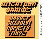vector of stylized retro font...   Shutterstock .eps vector #1232016061