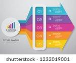 5 steps of arrow infografics... | Shutterstock .eps vector #1232019001