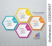 4 steps process infographics... | Shutterstock .eps vector #1232019037