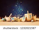 banner of jewish holiday...   Shutterstock . vector #1232021587