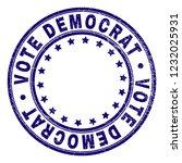 vote democrat stamp seal... | Shutterstock .eps vector #1232025931