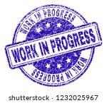 work in progress stamp seal... | Shutterstock .eps vector #1232025967