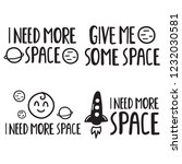 i need more space. set of funny ... | Shutterstock .eps vector #1232030581