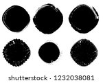 grunge post stamps collection ...   Shutterstock .eps vector #1232038081