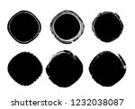 grunge post stamps collection ...   Shutterstock .eps vector #1232038087