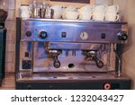 coffee machine in a coffee shop ... | Shutterstock . vector #1232043427