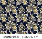 floral seamless vector pattern | Shutterstock .eps vector #1232047474
