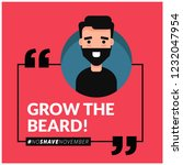 grow the beard no shave...   Shutterstock .eps vector #1232047954