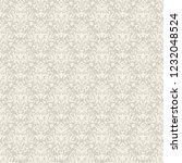 vintage seamless damask pattern.... | Shutterstock .eps vector #1232048524