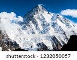 k2 peak  8 611 m  the world's... | Shutterstock . vector #1232050057
