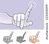 multi touch hand gestures for... | Shutterstock .eps vector #123205099