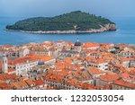 rooftops of old houses in... | Shutterstock . vector #1232053054