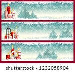 three christmas banners with... | Shutterstock .eps vector #1232058904