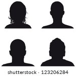 people profile silhouettes | Shutterstock .eps vector #123206284