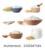 set with corn starch and... | Shutterstock . vector #1232067181