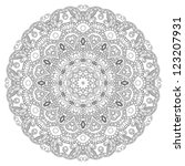 lace circle silhouette on a...   Shutterstock . vector #123207931