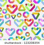 seamless bright background with ... | Shutterstock .eps vector #123208354