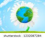 flower earth ecology concept 3d ... | Shutterstock . vector #1232087284
