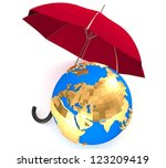 3d environment protection... | Shutterstock . vector #123209419
