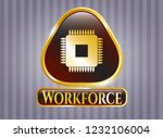 gold badge or emblem with... | Shutterstock .eps vector #1232106004