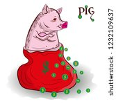 pig is the symbol of the year ... | Shutterstock .eps vector #1232109637