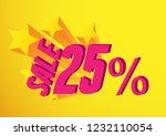 sale 25   greeting card... | Shutterstock .eps vector #1232110054