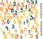 falling numbers abstract... | Shutterstock .eps vector #1232113504