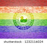 rubber duck icon on mosaic... | Shutterstock .eps vector #1232116024