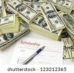 scholarship application form ... | Shutterstock . vector #123212365