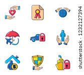 sacrifice icons set. flat set... | Shutterstock .eps vector #1232127394