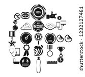 sample icons set. simple set of ...   Shutterstock .eps vector #1232127481