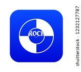 vinyl icon digital blue for any ... | Shutterstock .eps vector #1232127787