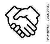 collaboration vector icon | Shutterstock .eps vector #1232129467
