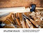 carpentry tools   still life | Shutterstock . vector #1232133127
