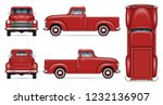 retro car vector mockup on... | Shutterstock .eps vector #1232136907