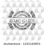 avant garde grey emblem....   Shutterstock .eps vector #1232165851