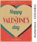 vintage valentines day type... | Shutterstock .eps vector #123216811