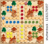 board game of the medieval... | Shutterstock .eps vector #1232170357