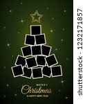 christmas tree with empty...   Shutterstock .eps vector #1232171857