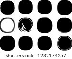 grunge post stamps collection ... | Shutterstock .eps vector #1232174257