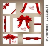 collection of gift cards and... | Shutterstock .eps vector #123218155