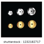 silver and gold sequin vector | Shutterstock .eps vector #1232182717